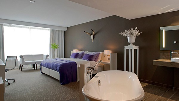 hotel met bad in slaapkamer – artsmedia, Deco ideeën